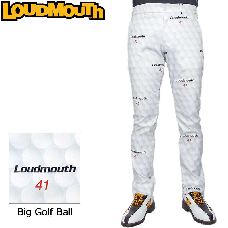 ラウドマウス 2019 メンズ ロングパンツ (Big Golf Ball ビッグゴルフボール) 769308(183) 春夏【Rivival】【日本規格】【新品】19SS Loudmouth ゴルフウェア 男性用 ボトムス 派手 派手な 柄 目立つ 個性的 MAR1 MAR2