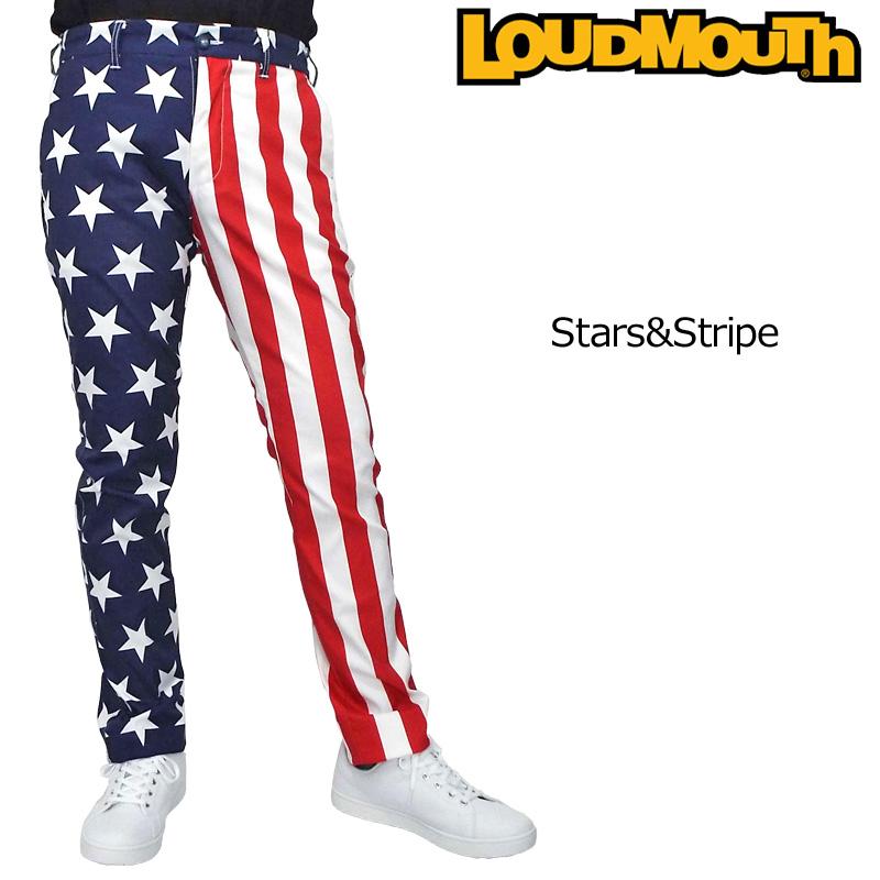 ラウドマウス メンズ ロングパンツ Stars & Stripes スターズ&ストライプス 769314(039) 【日本規格】【新品】19SS Loudmouth ゴルフウェア ボトムス 派手 派手な 柄 目立つ 個性的 JUN2 %off