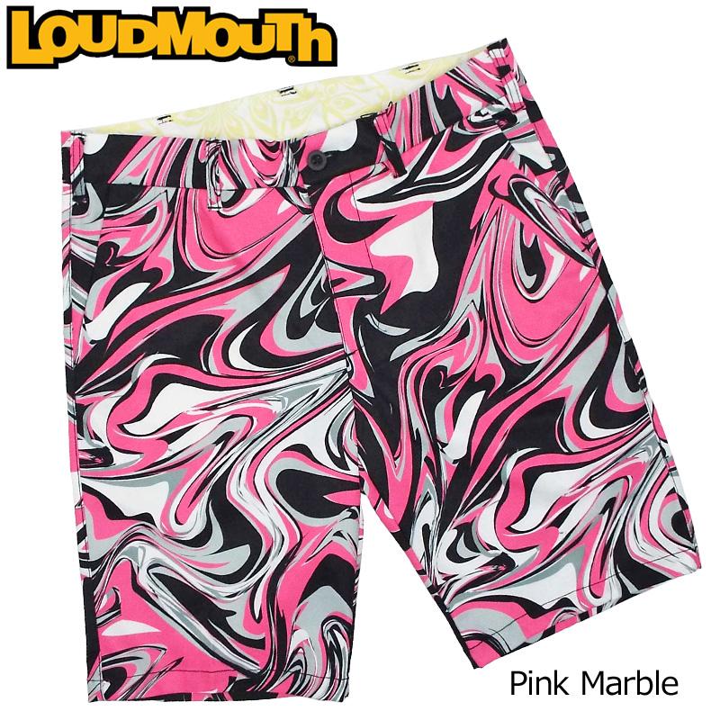 【メール便発送】ラウドマウス メンズ ショートパンツ Pink Marble ピンクマーブル 769317(193) 【日本規格】【新品】19SS Loudmouth ゴルフウェア ハーフパンツ 派手 派手な 柄 目立つ 個性的 JUN2 %off