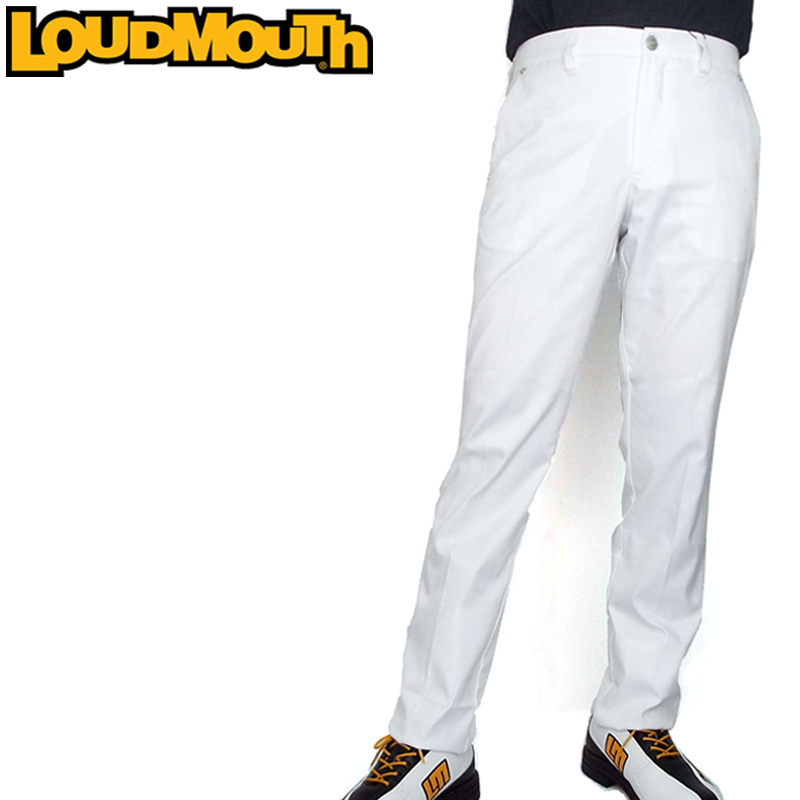 ラウドマウス メンズ ロングパンツ エンボス White ホワイト 778300(999) 【日本規格】【新品】18FW ゴルフウェア男性用紳士用 ボトムス 白派手 な 柄