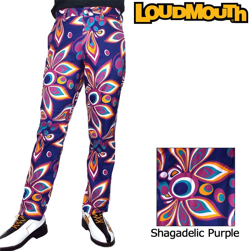 【Newest】【日本規格】ラウドマウス 2018 メンズ ロングパンツ (シャガデリックパープル Shagadelic Purple) 778301(155) 【新品】18FW Loudmouth ゴルフウェア男性用紳士用 ボトムス SEP2 SEP3派手 派手な 柄 目立つ 個性的