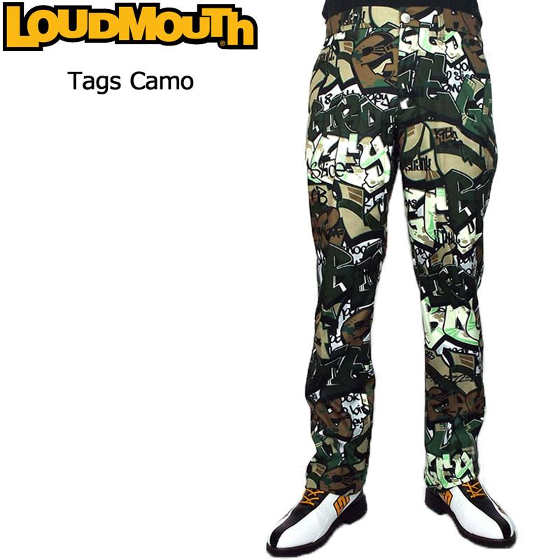 【Newest】【日本規格】ラウドマウス 2018 メンズ ロングパンツ (タグスカモ Tags Camo) 778304(159) 【新品】18FW Loudmouth ゴルフウェア男性用紳士用 ボトムス OCT2 OCT3 派手 派手な 柄 目立つ 個性的