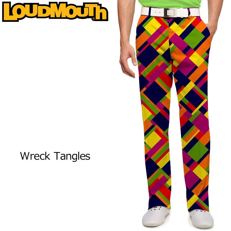 ラウドマウス メンズ ロングパンツ レギュラーカット レックタングルズ Pants Regular Cut Wreck Tangles【新品】Loudmouthゴルフウェアボトムス派手 派手な 柄 目立つ 個性的 %off