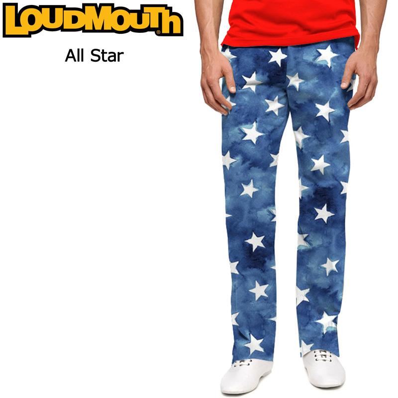 ラウドマウス メンズ ロングパンツ レギュラーカット オールスター Loudmouth Pants Regular Cut All Stars 【新品】Loudmouth ゴルフウェア ボトムス 派手 派手な 柄 目立つ 個性的 %off
