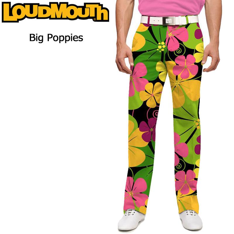 ラウドマウス メンズ ロングパンツ スリムカット (Big Poppies ビッグ ポピー) 767327(079)【インポート】【新品】17SSゴルフウェアボトムスLoudmouth Pants Slim Cut派手 派手な 柄 目立つ 個性的 %off