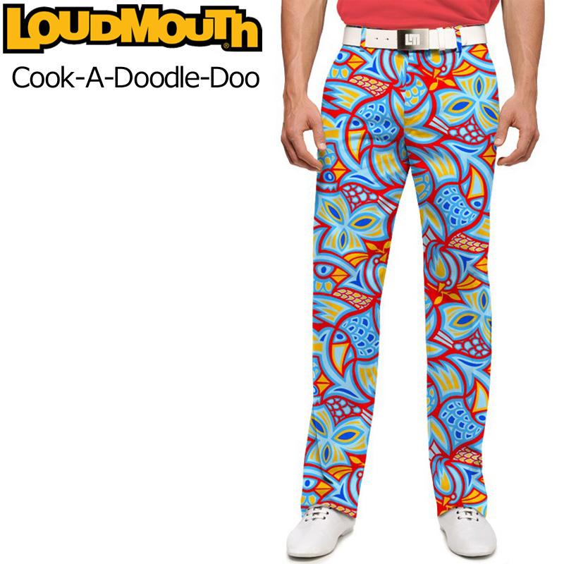 ラウドマウス メンズ ロングパンツ スリムカット (Cook-A-Doodle-Doo クックドゥードゥルドゥー) 767327(087)【インポート】【新品】17SSゴルフウェアLoudmouth Slim Cut派手 派手な 柄 目立つ 個性的 %off
