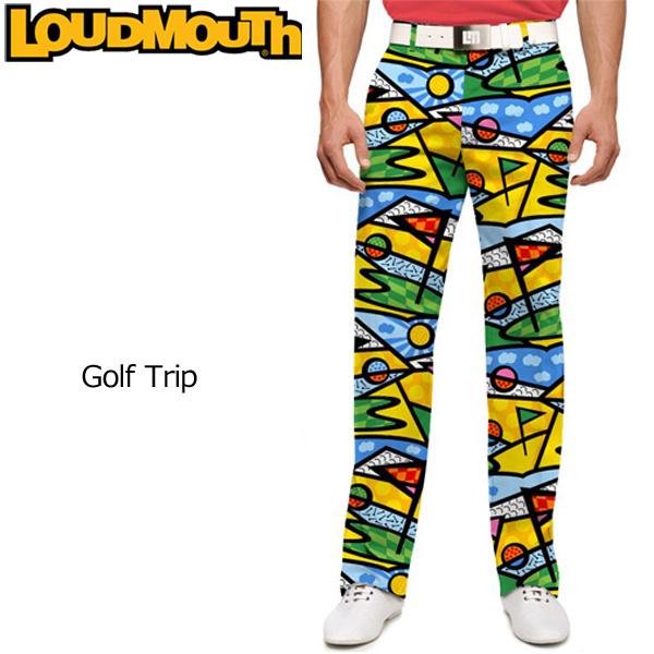 ラウドマウス メンズ ロングパンツ スリムカット (ゴルフトリップ Golf Trip) 767327(081)【インポート】【新品】 17SS ゴルフウェア ボトムス Loudmouth Pants Slim Cut派手 派手な 柄 目立つ 個性的 %off