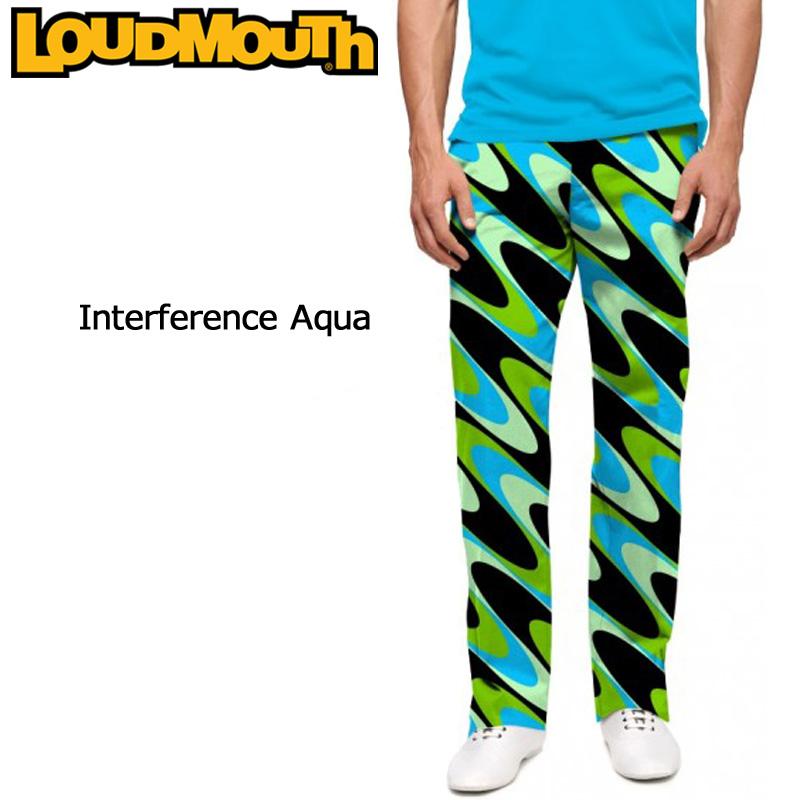 ラウドマウス メンズ ロングパンツ スリムカット (Interference Aqua インターフェアレンス アクア) 777328(112)【インポート】【新品】 17FW ゴルフウェア ボトムス Loudmouth Pants Slim Cut %off