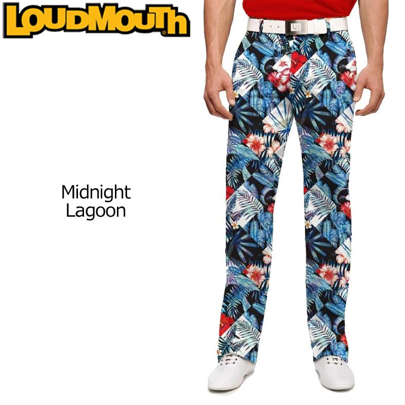 ラウドマウス メンズ ロングパンツ スリムカット (Midnight Lagoon ミッドナイトラグーン) 768325(131)【インポート】【新品】18SSゴルフウェアボトムスLoudmouth Pants Slim Cut派手 派手な 柄 目立つ 個性的 %off
