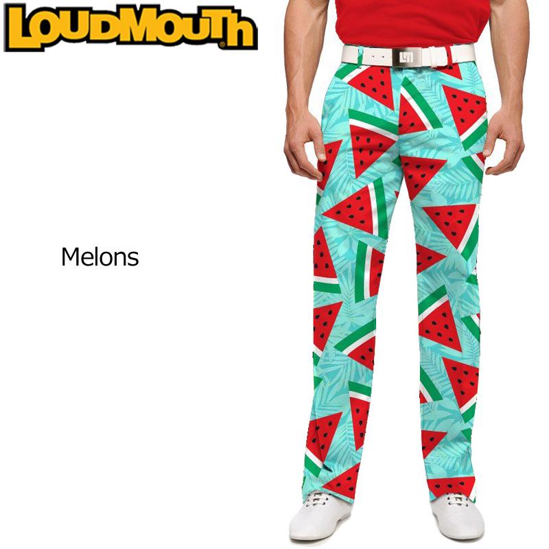 ラウドマウス メンズ ロングパンツ スリムカット (Melons メロンズ) 768327(134)【インポート】【新品】18SSゴルフウェアボトムスLoudmouth Pants Slim Cut派手 派手な 柄 目立つ 個性的 %off