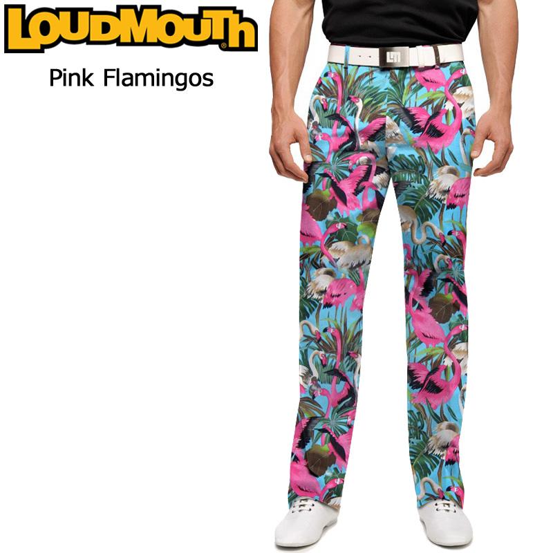 ラウドマウス メンズ ロングパンツ スリムカット (Pink Flamingos ピンクフラミンゴ) 767327(086)【インポート】【新品】 17SS ゴルフウェア Loudmouth Pants Slim Cut派手 派手な 柄 目立つ 個性的 %off