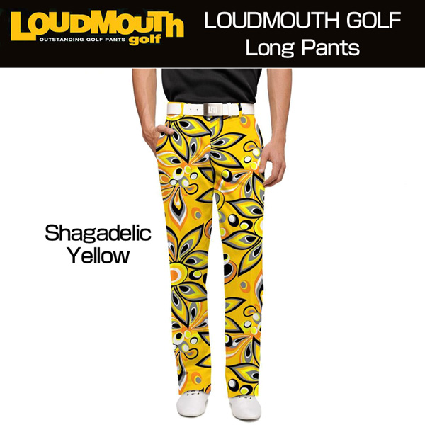 ラウドマウス メンズ ロングパンツ スリムカット (Shagadelic Yellow シャガデリック イエロー) 777326(021)【30%off】【新品】 17FW ゴルフウェ ア ボトムス Loudmouth Pants Slim Cut派手 派手な 柄 目立つ 個性的