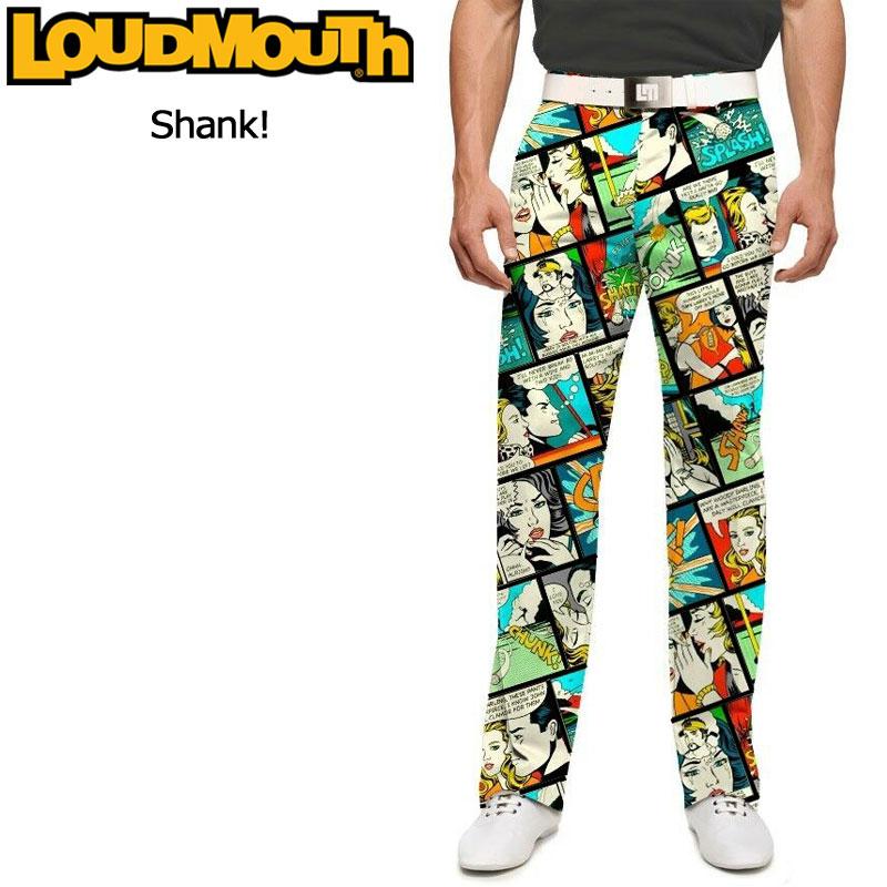 ラウドマウス メンズ ロングパンツ スリムカット (Shank! シャンク) 767327(088)【インポート】【新品】 17SS ゴルフウェア ボトムス Loudmouth Pants Slim Cut派手 派手な 柄 目立つ 個性的 %off