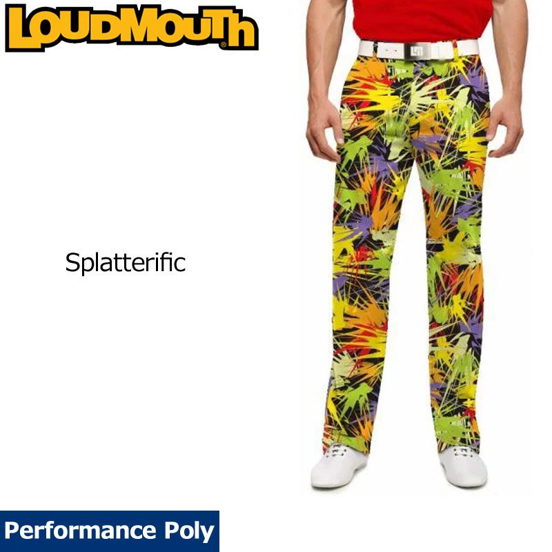 【Newest】【インポート】ラウドマウス 2018 メンズ ロングパンツ スリムカット (Splatterific スプラッタリフィック) 778329(170)【新品】18FW ゴルフウェアボトムス Loudmouth Pants Slim Cut OCT3 NOV1 派手 派手な 柄 目立つ 個性的