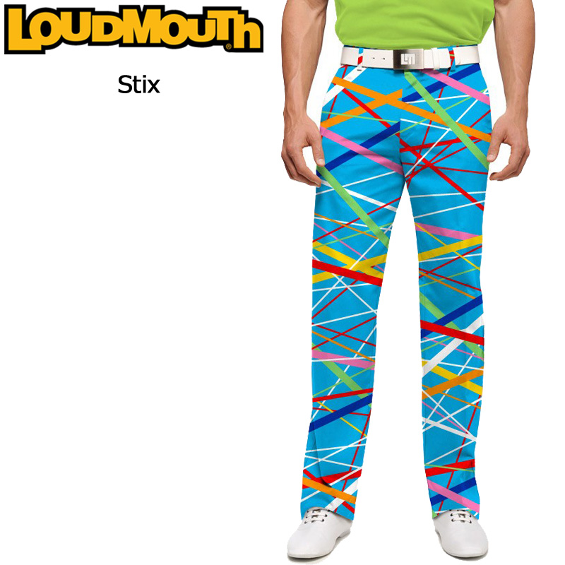 ラウドマウス メンズ ロングパンツ スリムカット (スティックス Stix) 767327(096)【インポート】【新品】 17SS ゴルフウェア ボトムス Loudmouth Pants Slim Cut派手 派手な 柄 目立つ 個性的 %off