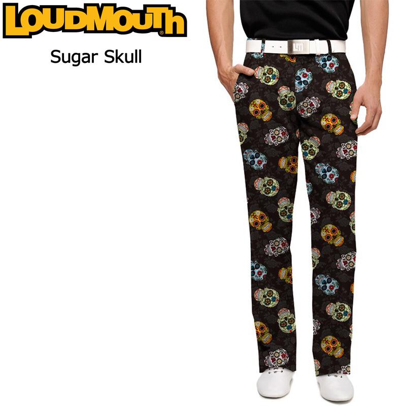 ラウドマウス メンズ ロングパンツ スリムカット (Sugar Skulls シュガースカルズ) 777327(058)【新品】 17FW Loudmouth Pants Slim Cut ハロウィン ゴルフウェア ボトムス