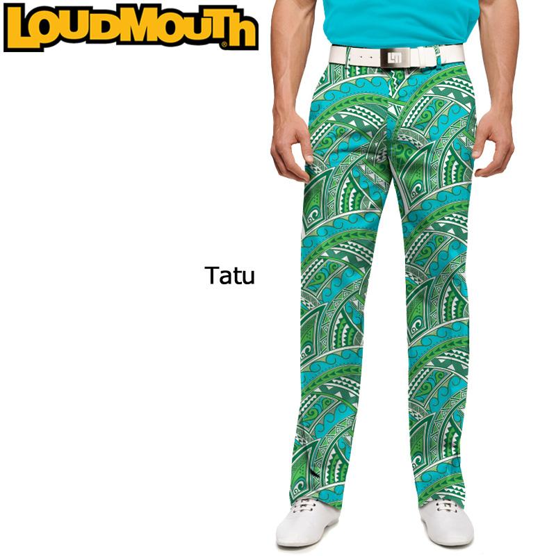 """Loudmouth Pants Slim Cut """"Tatu"""" (ラウドマウス メンズ ロングパンツ スリムカット """"タトゥー"""")【インポート】【新品】Loudmouthゴルフウェアボトムス派手 派手な 柄 目立つ 個性的 %off"""