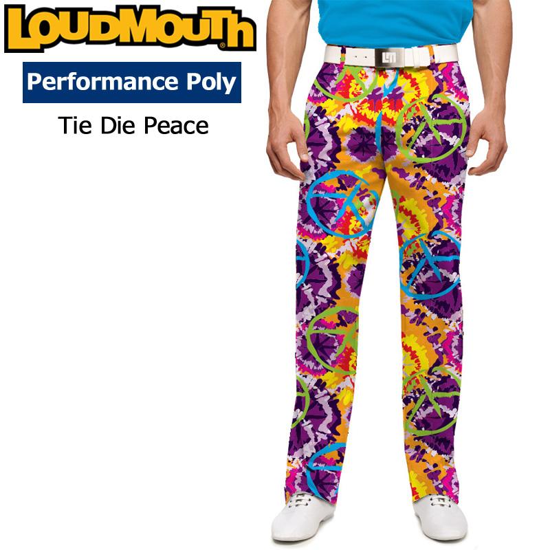 ラウドマウス メンズ ロングパンツ スリムカット (Tie Dye Peace タイダイピース) 768329(106)【インポート】【新品】18SSゴルフウェアボトムスLoudmouth Pants Slim Cut 派手 派手な 柄 目立つ 個性的