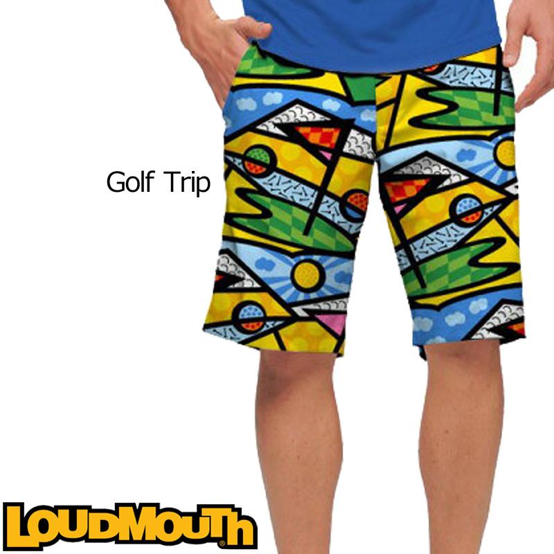 【メール便発送】ラウドマウス メンズ ショートパンツ スリムカット (ゴルフトリップ Golf Trip) 767328(081)【インポート】【新品】 17SS ゴルフウェア ボトムス Loudmouth Short Pants Slim Cut派手 派手な 柄 目立つ 個性的 %off