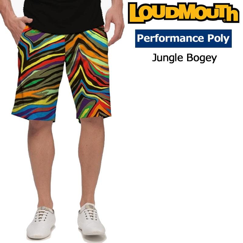 【メール便発送OK】ラウドマウス メンズ ショートパンツ スリムカット (Jungle Bogey ジャングルボギー) 768336(148)【30%off】【インポート】【新品】18SS ゴルフウェアボトムスLoudmouth Short Pants Slim Cut 派手 派手な 柄 目立つ 個性的