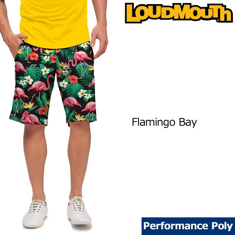 【メール便発送】ラウドマウス メンズ ショートパンツ スリムカット (Flamingo Bay フラミンゴベイ) 768333(132)【インポート】【新品】18SS ゴルフウェアボトムスLoudmouth Short Pants Slim Cut派手 派手な 柄 目立つ 個性的 %off