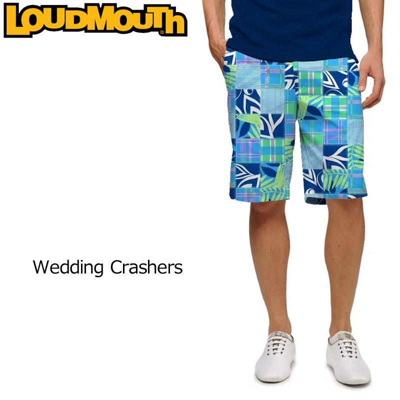 【メール便発送】ラウドマウス メンズ ショートパンツ スリムカット (Wedding Crashers ウェディングクラッシャーズ) 768333(135)【インポート】【新品】18SS ゴルフウェアボトムスLoudmouth Short Pants Slim Cut派手 派手な 柄 目立つ 個性的 %off