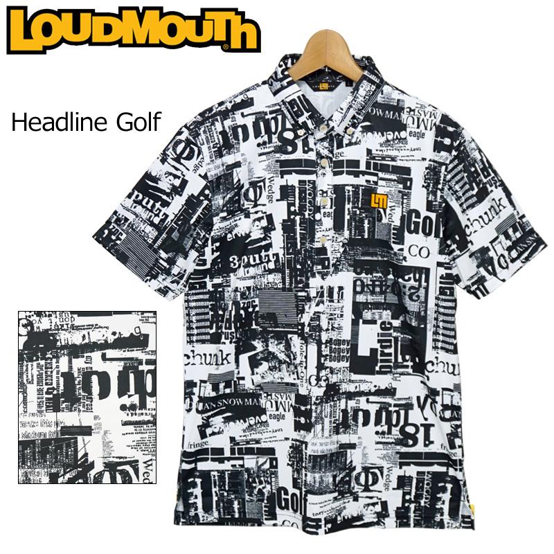 【メール便発送】ラウドマウス 2020 メンズ 半袖 ボタンダウン ポロシャツ 吸水速乾 UVカット Headline Golf ヘッドラインゴルフ 760605(242) 春夏 【日本規格】【新品】20SS Loudmouth トップス 派手 FEB3