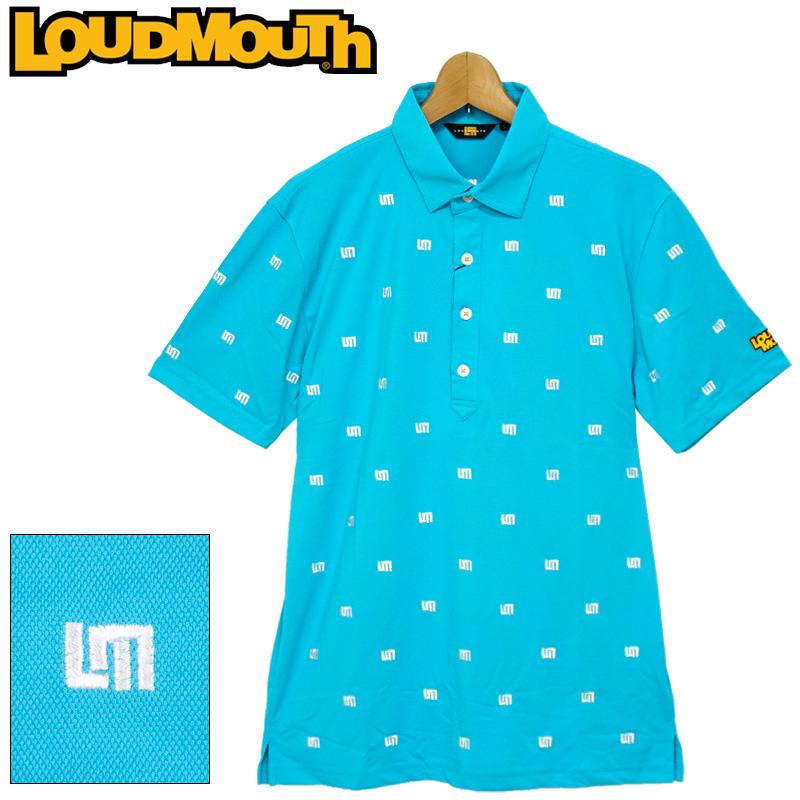 【メール便発送】ラウドマウス 2020 メンズ 半袖 ポロシャツ 吸水速乾 UVカット ライトブルー 760608(996) 春夏 【日本規格】【新品】20SS Loudmouth トップス FEB3