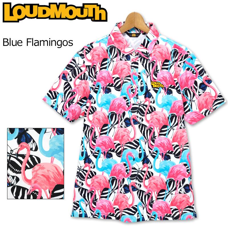 【メール便発送】ラウドマウス 2020 メンズ 半袖 ポロシャツ 吸水速乾 UVカット Blue Flamingos ブルーフラミンゴ 760609(236) 春夏 【日本規格】【新品】20SS Loudmouth トップス 派手 FEB3