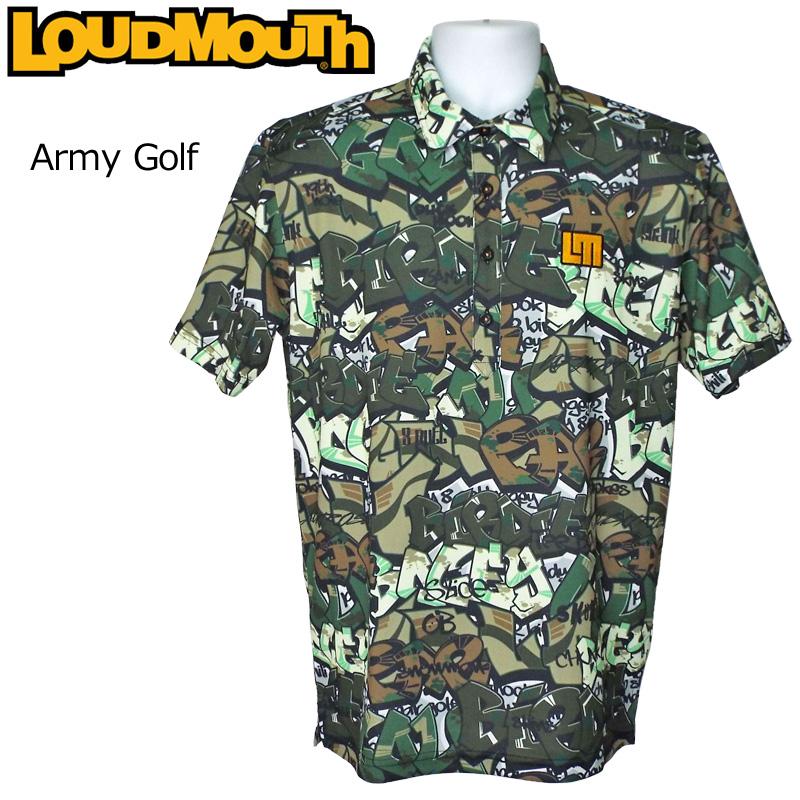 【メール便発送】ラウドマウス メンズ 半袖ポロシャツ Army Golf アーミー ゴルフ 769605(200) 春夏 【日本規格】【新品】 19SS Loudmouth トップス 派手 派手な