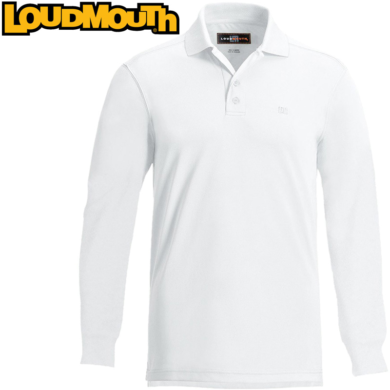 Loudmouth Long Sleeve Essential Shirt (ラウドマウス 長袖エッセンシャルシャツ スタークホワイト)メンズ ポロシャツ 春夏[新品]Loudmouthゴルフウェアトップス ワンポイント