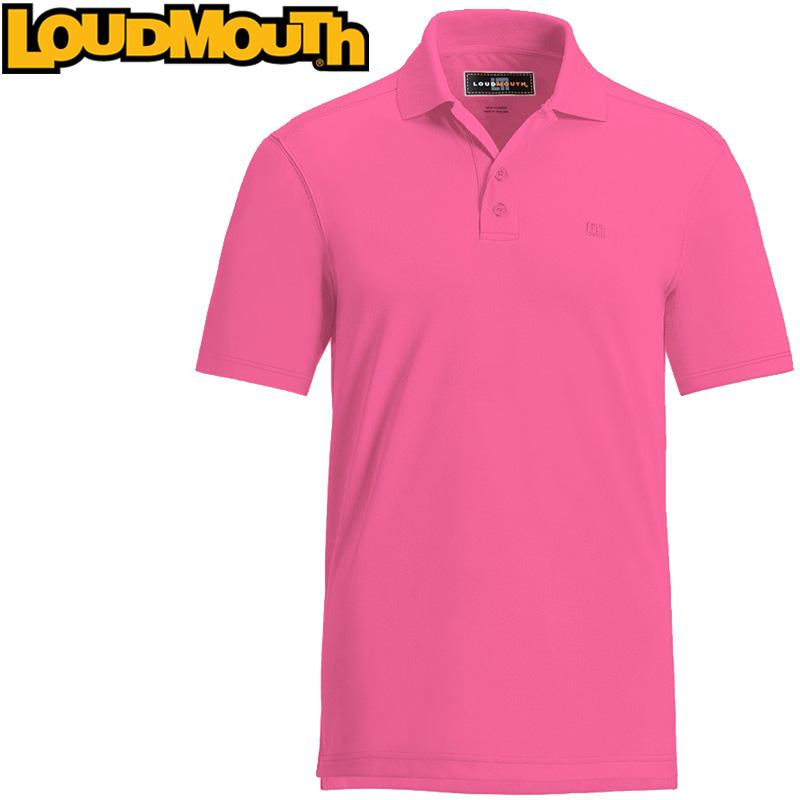 Loudmouth Essential Shirt (ラウドマウス エッセンシャルシャツ カーマインローズ)メンズ 半袖 ポロシャツ 春夏【新品】Loudmouthゴルフウェアトップス ワンポイント Carmine Rose