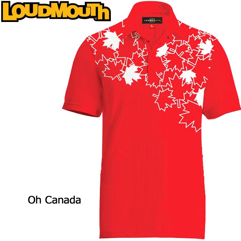 """【メール便発送】Loudmouth Fancy Shirt """"Oh Canada"""" ラウドマウス 半袖 ファンシーシャツ """"オーカナダ"""