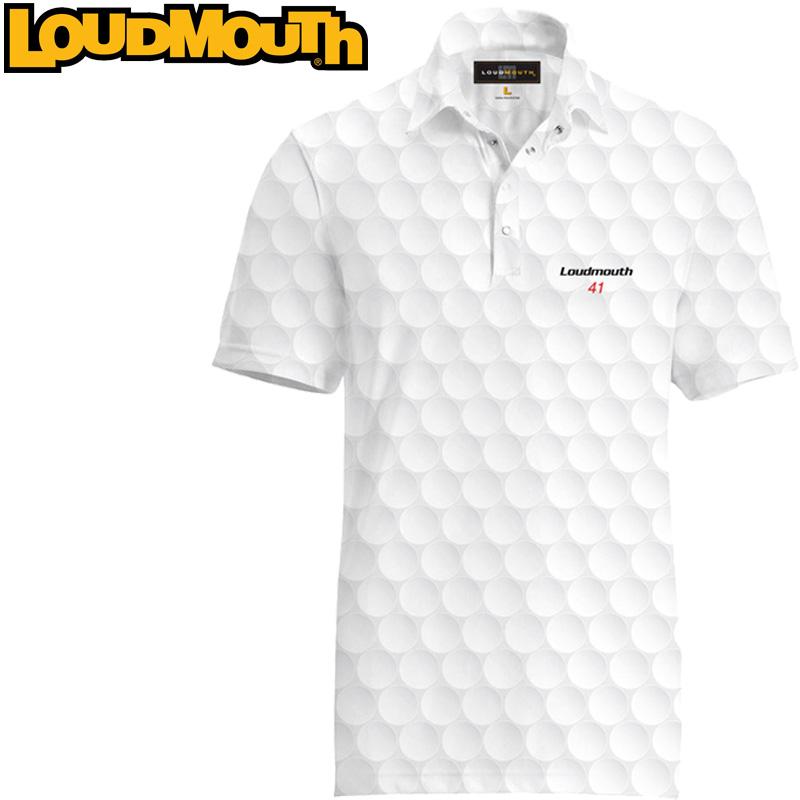 【メール便発送】ラウドマウス 半袖 ファンシーシャツ Big Golf Ball ビッグゴルフボール Loudmouth Fancy Shirt【新品】ゴルフウェアメンズポロシャツトップス