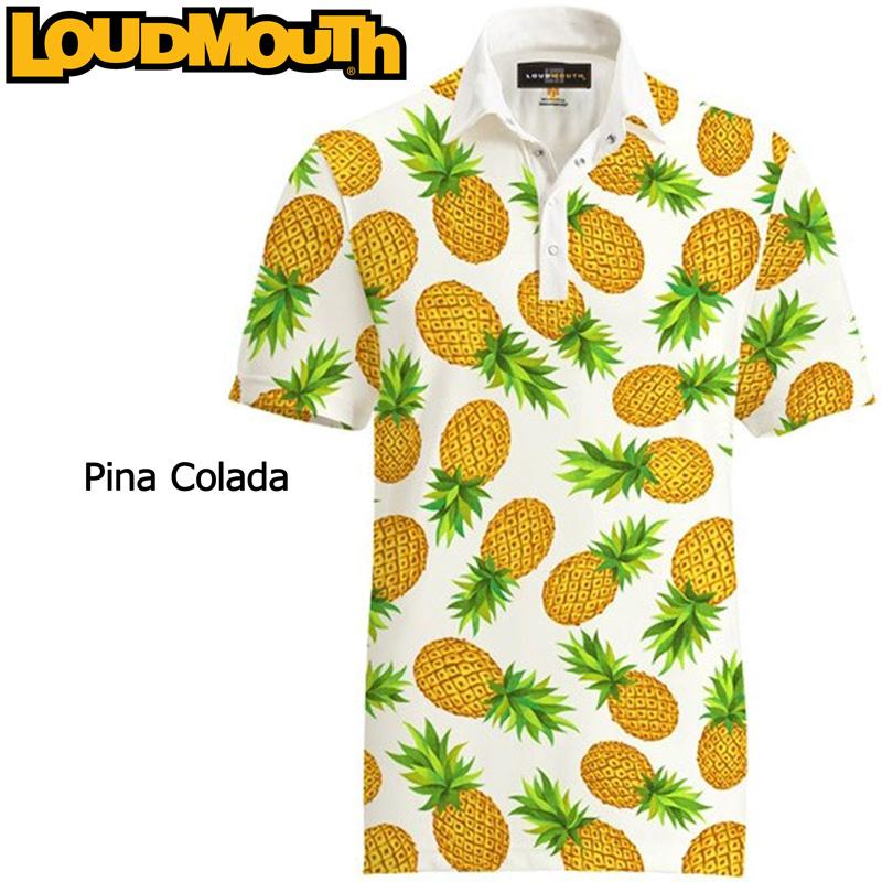 ラウドマウス 半袖 ファンシーシャツ (Pina Colada ピナコラーダ) Loudmouth Fancy Shirt【新品】ゴルフウェアメンズポロシャツトップス