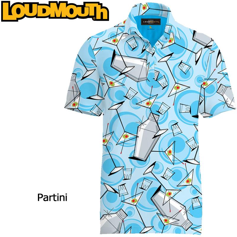 """【メール便発送】Loudmouth Fancy Shirt """"Partini"""" ラウドマウス 半袖 ファンシーシャツ """"パーティニ""""【新品】Loudmouthメンズ ポロシャツ ゴルフウェアトップス"""