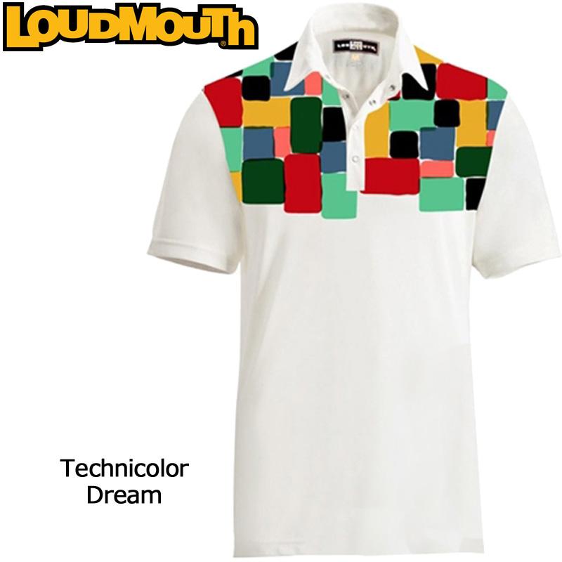 """【メール便発送】Loudmouth Fancy Shirt """"Technicolor Dream"""" (ラウドマウス ファンシーシャツ """"テクニカラードリーム"""")メンズ 半袖 ポロシャツ【新品】ゴルフウェアトップス %off"""