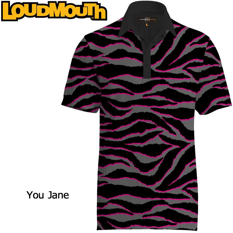 """【メール便発送】Loudmouth Fancy Shirt """"You Jane"""" ラウドマウス 半袖 ファンシーシャツ """"ユージェーン""""【新品】 Loudmouth メンズ ポロシャツ ゴルフウェア トップス"""