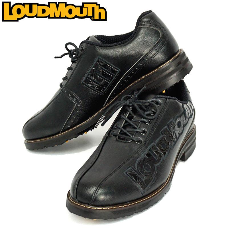 ラウドマウス メンズ ゴルフシューズ Black×Black LM-GS0001/777998【20%off】【日本規格】【新品】 17FW Loudmouth ブラック ブラック Shagadelic Black シャガデリックブラック 黒