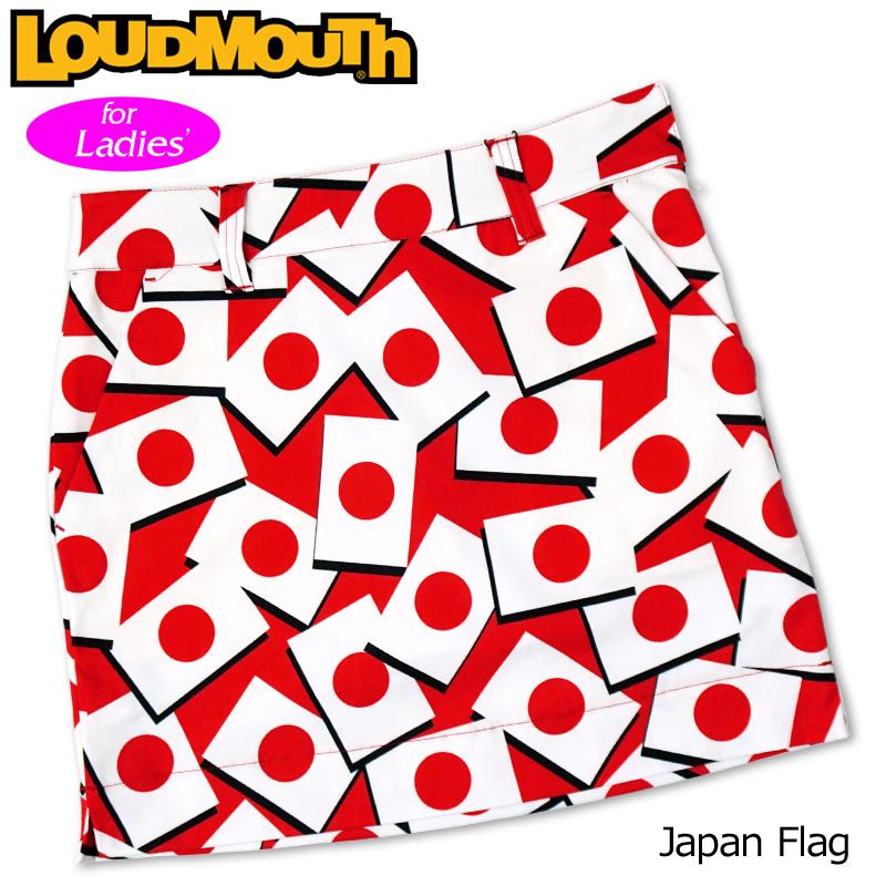 【メール便発送】ラウドマウス 2020 スカート インナー付き Japan Flag ジャパンフラッグ 760357(247) 【日本規格】【新品】20SS Loudmouth レディース スコート MAY1 MAY2