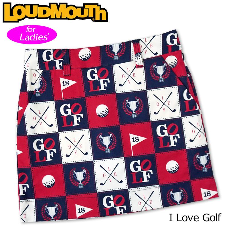 【メール便発送】ラウドマウス 2020 スカート インナー付き I Love Golf アイラブゴルフ 760357(251) 【日本規格】【新品】20SS Loudmouth レディース スコート MAY1 MAY2