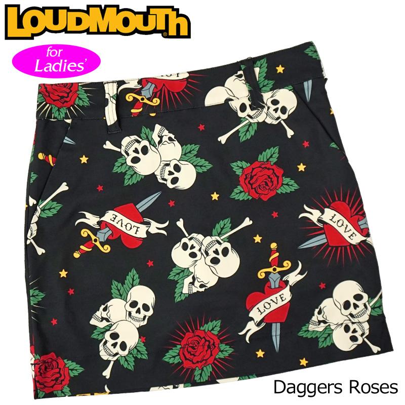 【メール便発送】ラウドマウス 2020 スカート インナー付き Daggers Roses ダガーローズ 760359(239) 【日本規格】【新品】20SS Loudmouth レディース スコート MAY1 MAY2