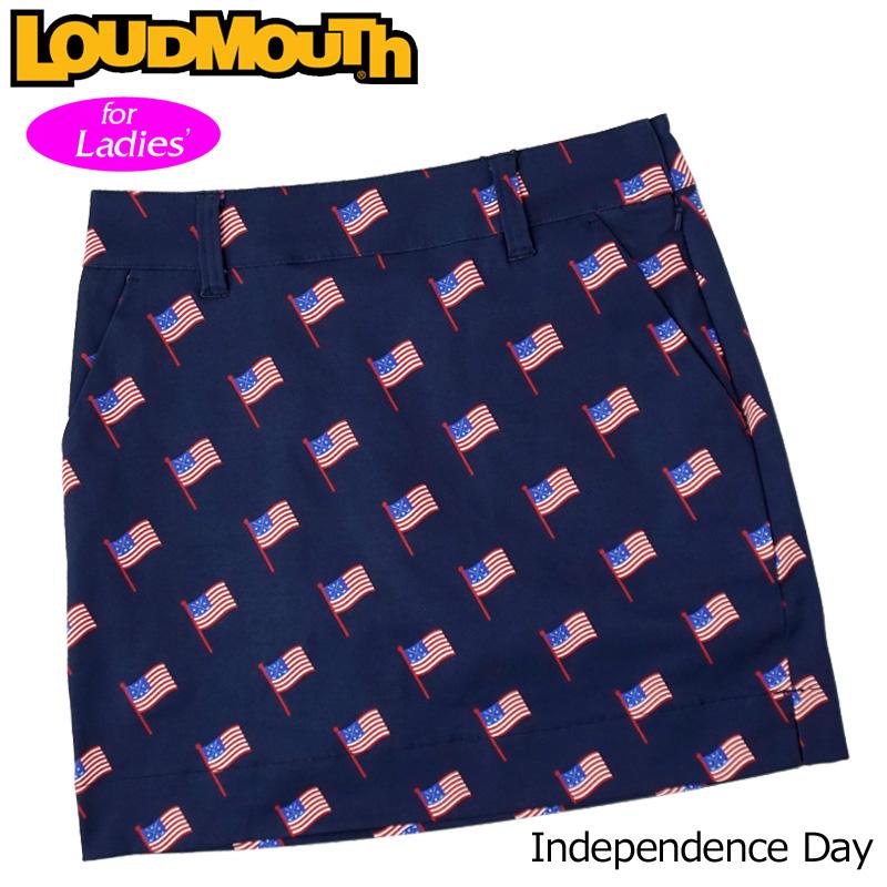 【メール便発送】【日本規格】ラウドマウス 2020 スカート インナー付き Independence Day インディペンデンスデイ 760359(250) 【新品】20SS Loudmouth レディース スコート MAY1 MAY2