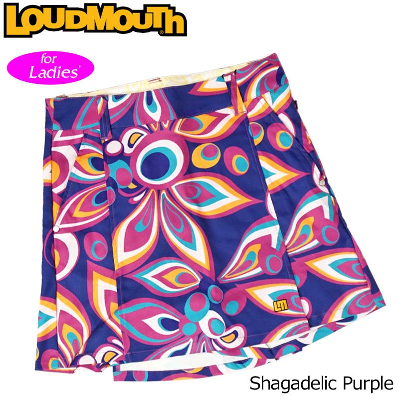 【メール便発送】レディース ラウドマウス ツイル キュロット スカート Shagadelic Purple シャガデリックパープル 778351(155)【日本規格】【新品】18FW Loudmouth NOV1 NOV2 %off
