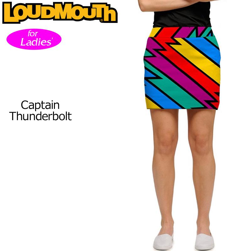 【メール便発送】ラウドマウス レディース スコート (Captain Thunderbolt キャプテンサンダーボルト) 767375(074)【インポート】【新品】17SS Loudmouth Skort レディス女性用ゴルフウェアスカートボトムス 派手 派手な 柄 目立つ 個性的 %off