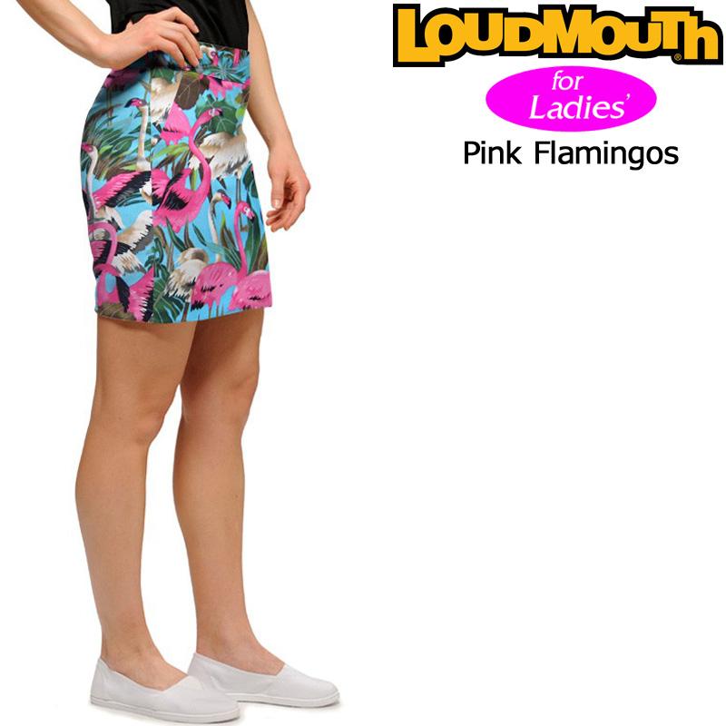 【メール便発送】レディース ラウドマウス スコート(Pink Flamingos ピンクフラミンゴ) 767382(086)【インポート】【新品】 17SS Loudmouth Skort ゴルフウェア レディス スカー ト 女性用 レディス WOMENS WOMEN'S ウィメンズ ウィメンズ %off