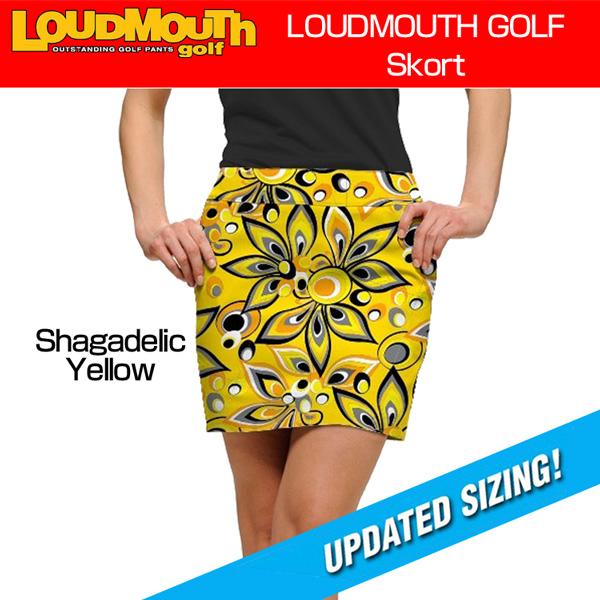 【インポートまとめ買いMAX30%off】レディース ラウドマウス スコート (Shagadelic Yellow シャガデリック イエロー) 777376(021)【30%off】【新品】 17FW Loudmouth Skort レディス 女性用 スカート ゴルフウェア ボトムス