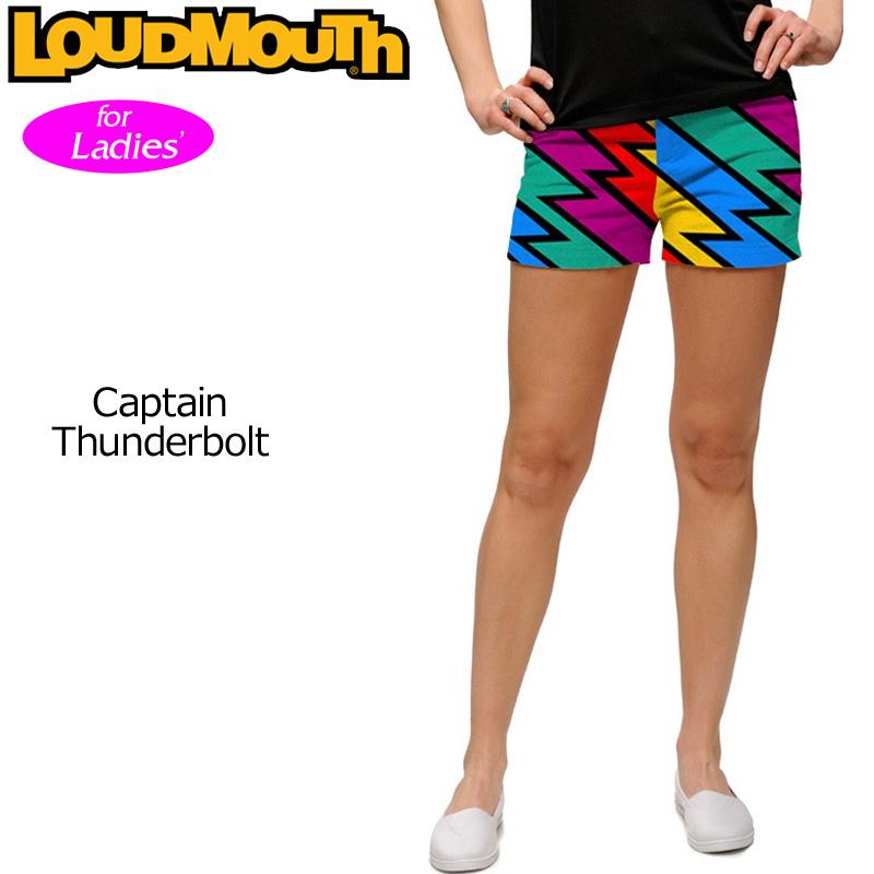 【メール便発送】レディース ラウドマウス ホットパンツ/ミニパンツ (Captain Thunderbolt キャプテンサンダーボルト) 767376(074) 【インポート】【新品】 17SS Loudmouth レディス 女性用 ゴルフウェア ボトムス Mini Shorts派手 派手な 柄 目立つ 個性的 %off