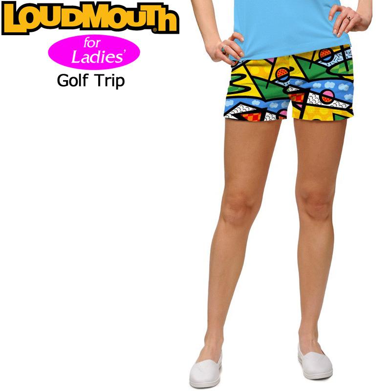 【メール便発送】レディース ラウドマウス ホットパンツ/ミニパンツ (Golf Trip ゴルフトリップ) 7673381(081) 【インポート】【新品】 17SS Loudmouth レディス 女性用 ゴルフウェア ボトムス Mini Shorts派手 派手な 柄 目立つ 個性的 %off