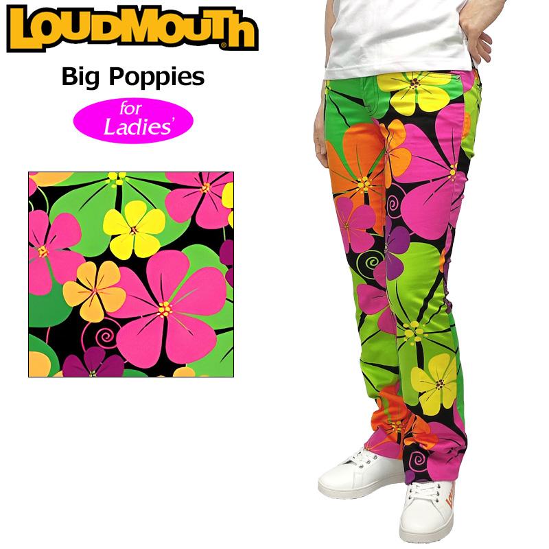 レディース ラウドマウス ロングパンツ ジーンズカット (Big Poppies ビッグ ポピー) 767380(079)【インポート】【新品】17SSゴルフウェアLoudmouth派手 派手な 柄 目立つ 個性的 %off